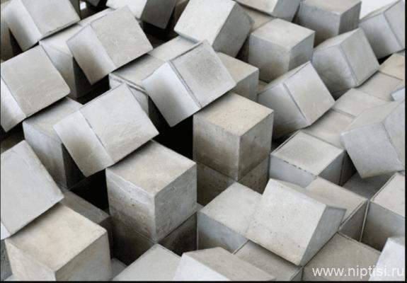испытание бетонных кубиков